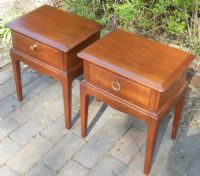 Pair Stag Minstel Bedside Cabinets